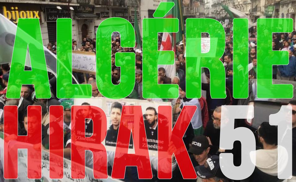 Algérie : 51e Hirak massif du vendredi 7 février 2020 ! [vidéos + photos]