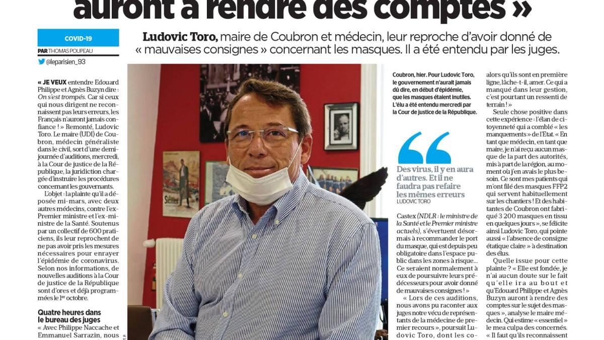 « Édouard Philippe et Agnès Buzyn auront à rendre des comptes » dixit Dr Ludovic Toro