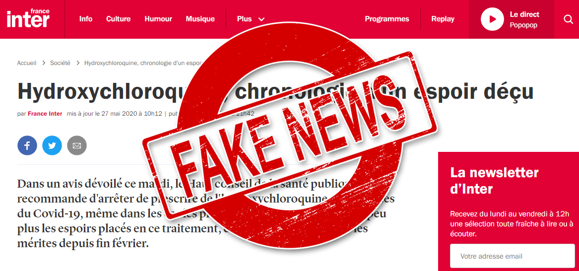 Lancet Gate : France inter publie des fake news !
