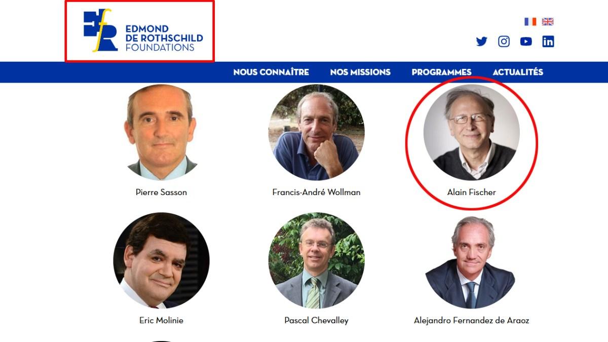 Alain Fischer, Monsieur vaccin, est membre de la direction de la Fondation… Rothschild !