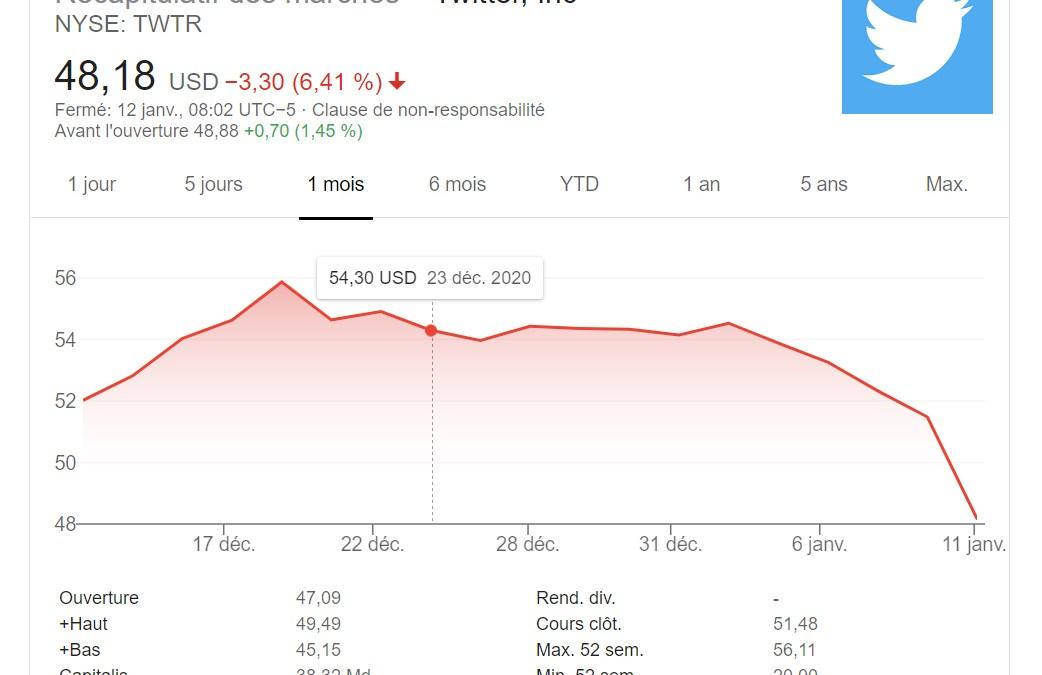 Twitter, le colosse aux pieds d'argile, s'effondre en Bourse !