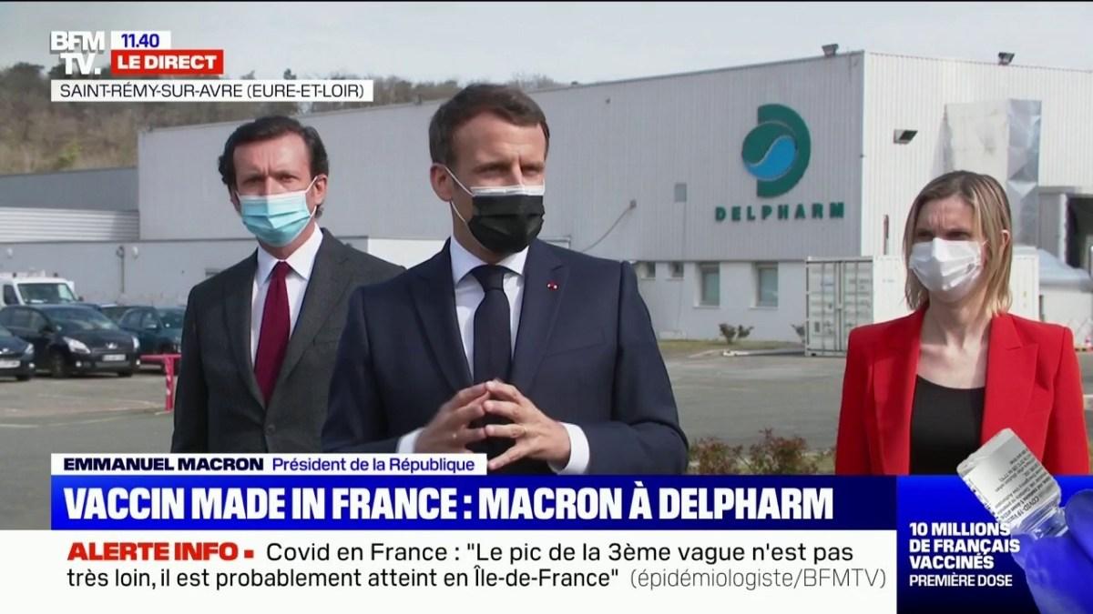 Science-fiction : Macron salue la « capacité » de l'industrie pharmaceutique française à « s'adapter » !