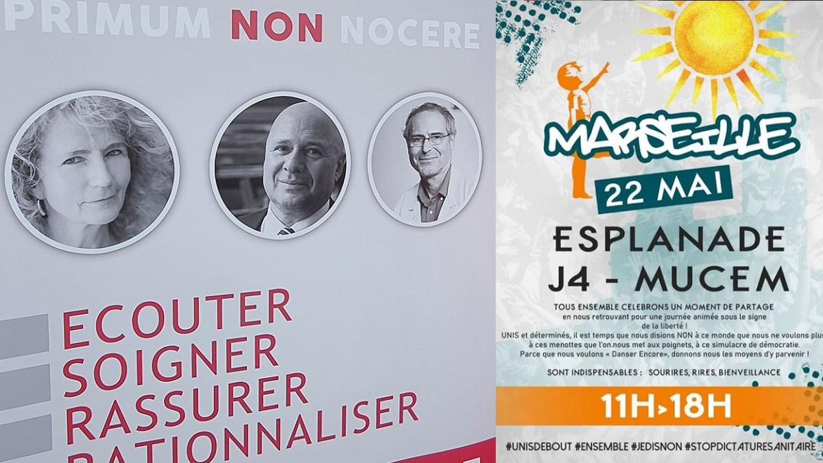 Le Dr et députée Martine Wonner ainsi que Me Brusa aujourd'hui à Marseille pour lutter contre la dictature sanitaire