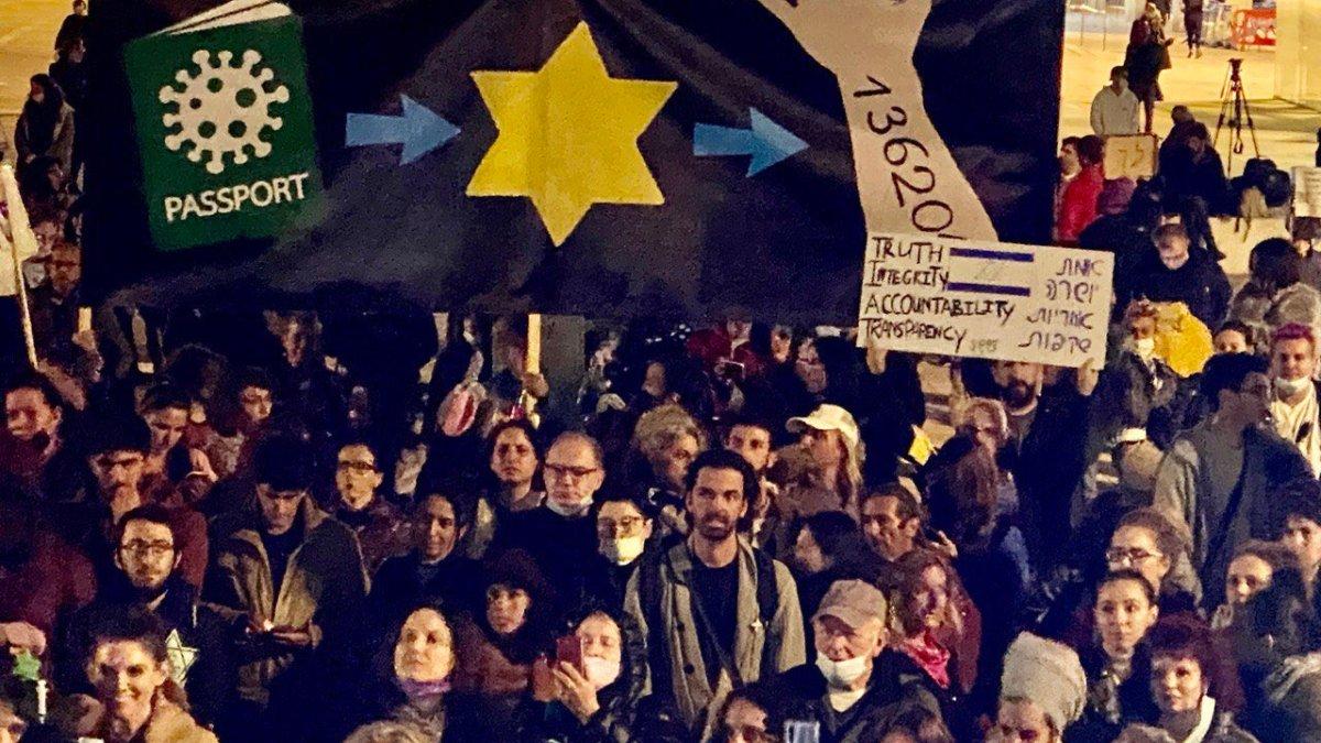 Pass sanitaire et étoile jaune : les juifs israéliens sont-ils antisémites !