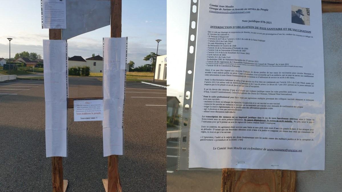 Landes : deux guillotines menacent des élus soutenant le pass sanitaire
