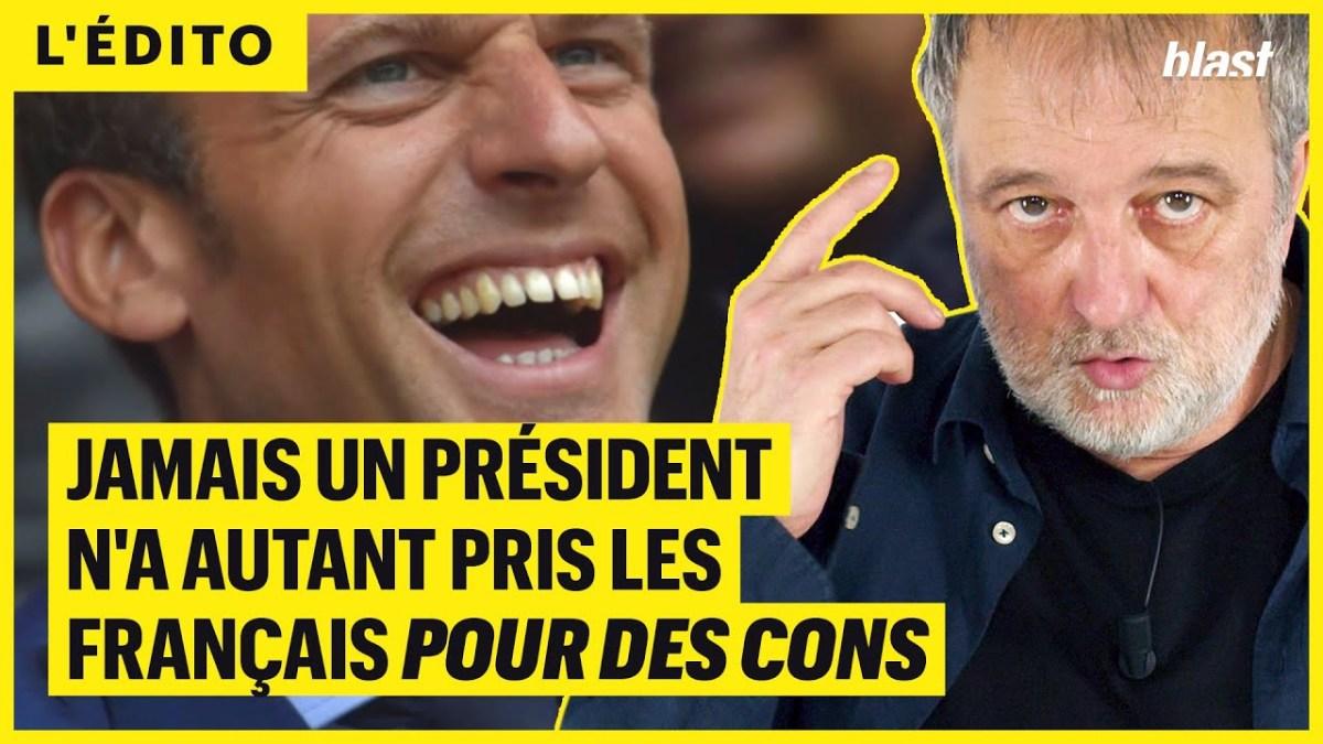Jamais un Président n'a autant pris les Français pour des cons, estime Denis Robert