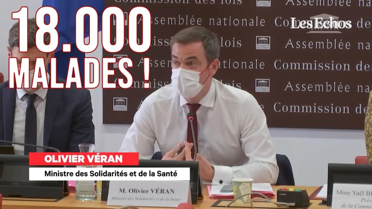 Olivier Véran est un menteur, il n'y a pas 18000 malades/jours en France !