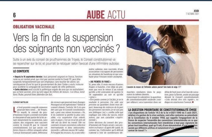 Obligation vaccinale : « Vers la fin de la suspension des soignants non-vaccinés ? »