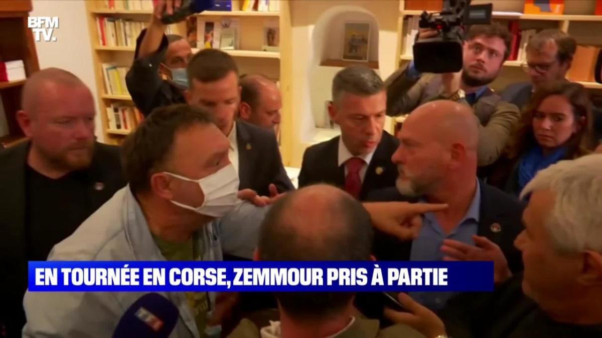 Séance de dédicaces en Corse, loin des plateaux télé : Éric Zemmour pris à partie !