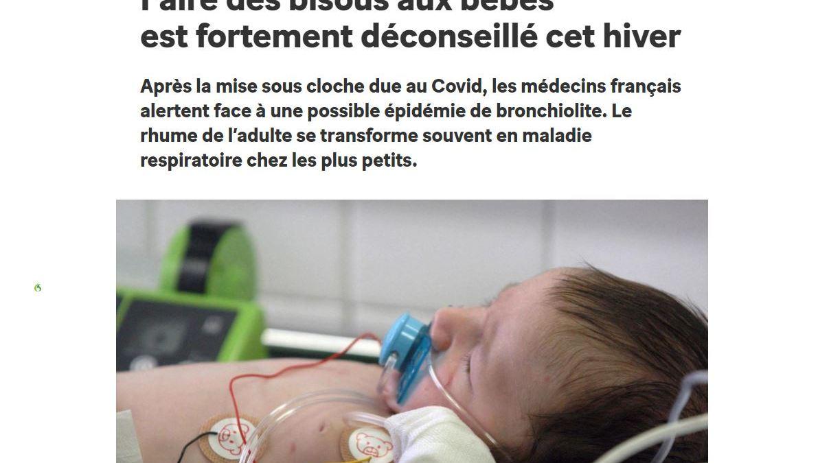 Aux FOUS : «Faire des bisous aux bébés est fortement déconseillé cet hiver» dixit des médecins !