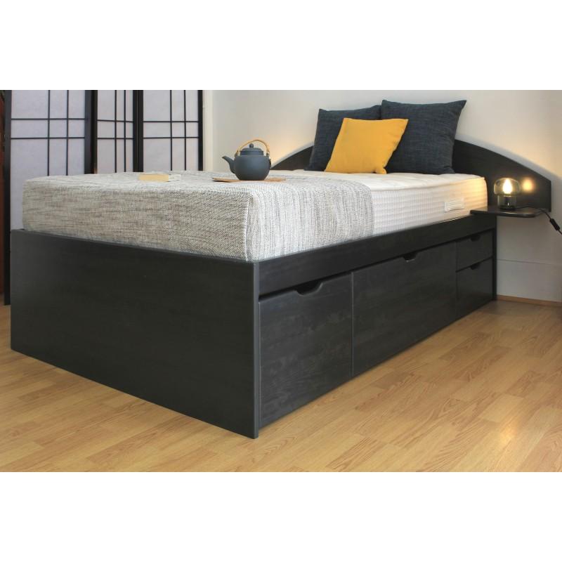 lit bois massif avec tiroir massako 460