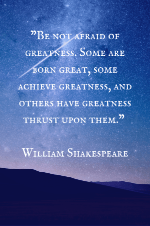 Inspirational Quote Shakespeare