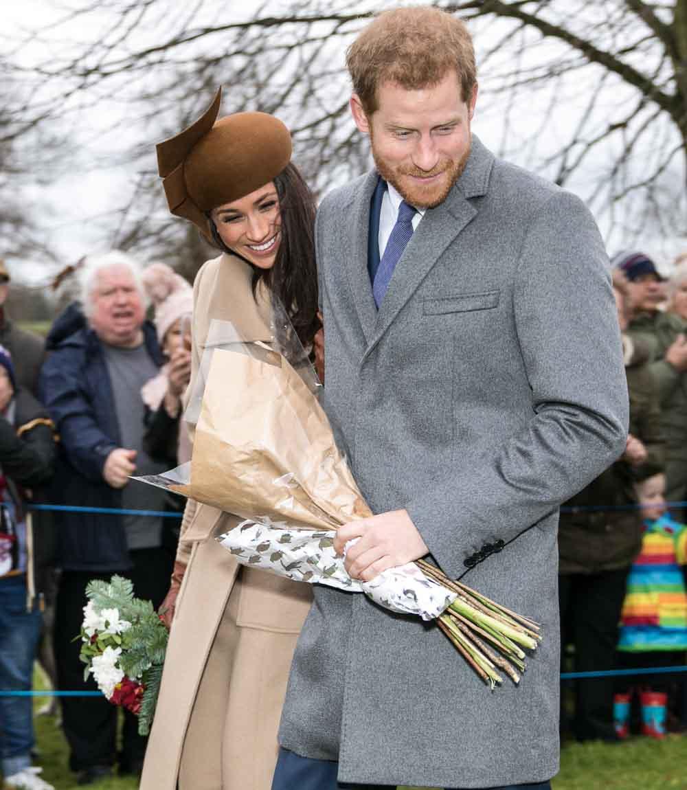 Prince Harry and his wife, Meghan Markle, Christmas 2017.