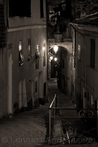 Night in Perinaldo, Italy (sepia)