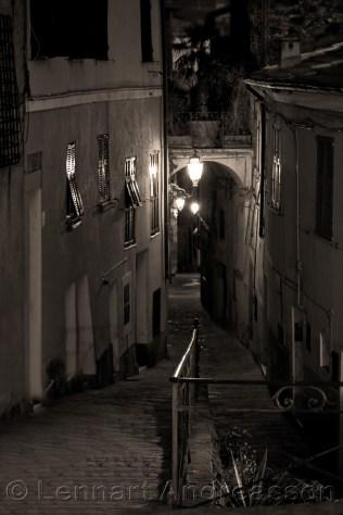 Night in Perinaldo, Italy (sepia)