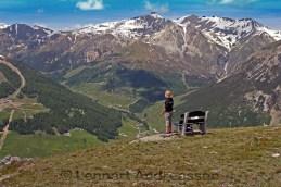 Suverän känsla att se ut över Alperna