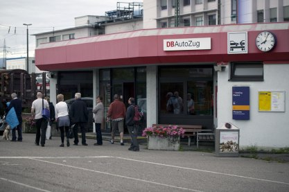 I väntan på avlastning i Lörrach