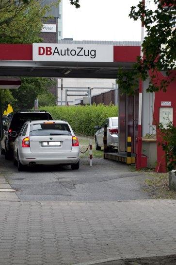 Incheckning till DB Autozug i Hamburg-Altona