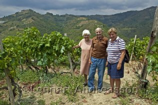 in the wineyard with signore and signora Taggiasco