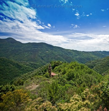 small mountain chapel in Liguria, Italy