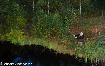 Markus prövar fiskelyckan