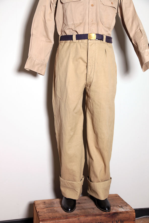 1950s French Chino Pants