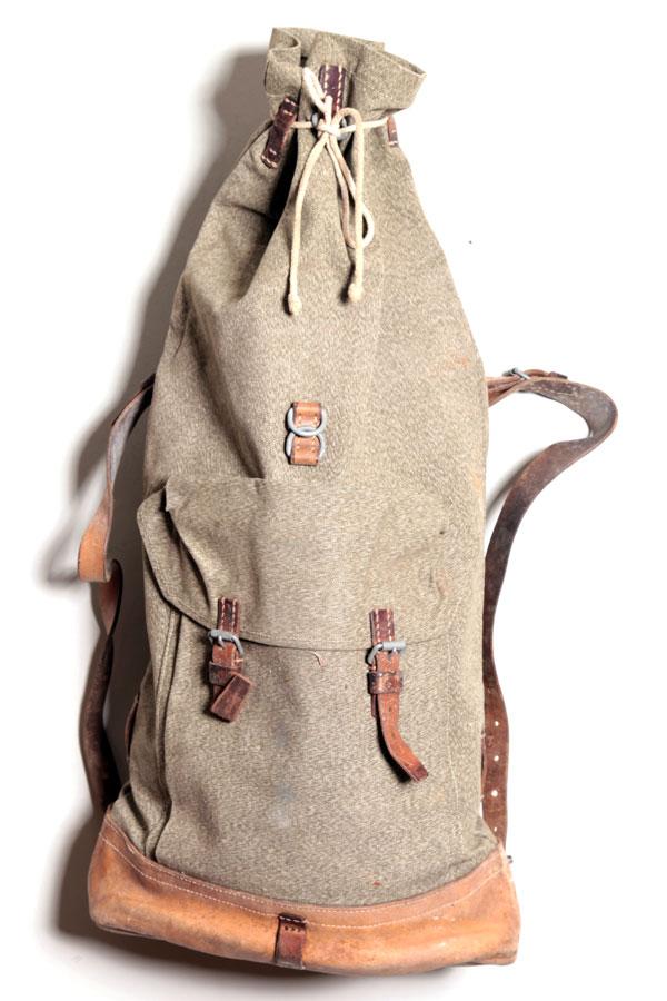 1950s Swiss army duffel bag