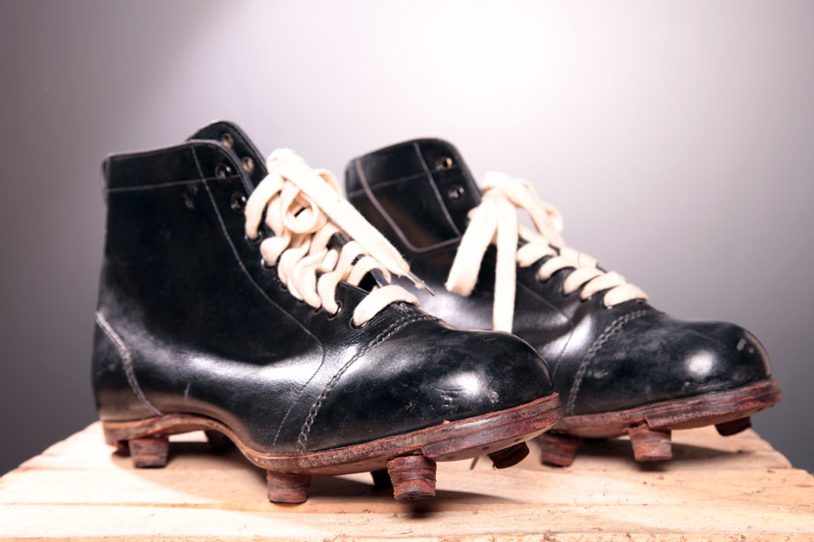 1930s leather soccer shoes