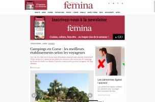 Top10 Camping Camping à la Ferme Le Mandriale à Cargese, Corse-du-Sud