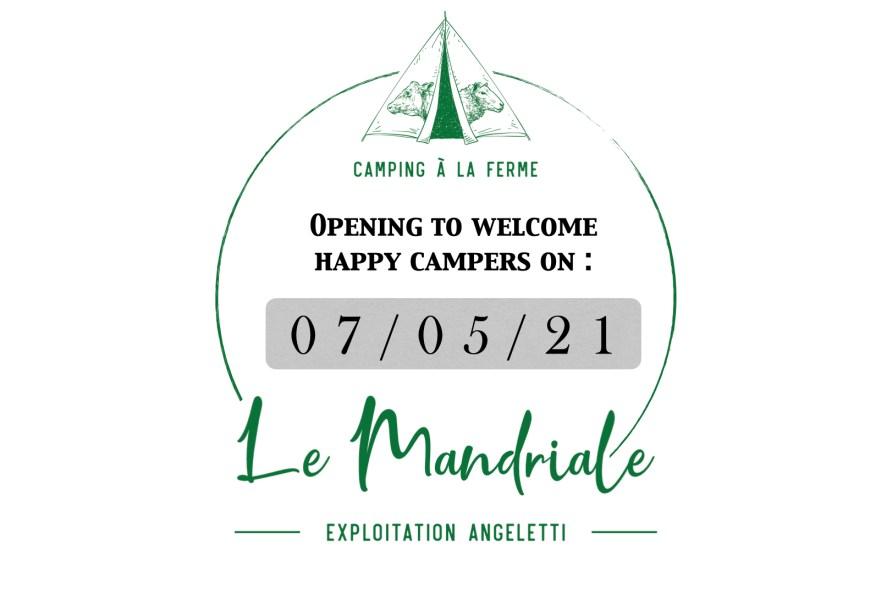 Opening 2021 Camping à la Ferme Le Mandriale à Cargese, Corse-du-Sud