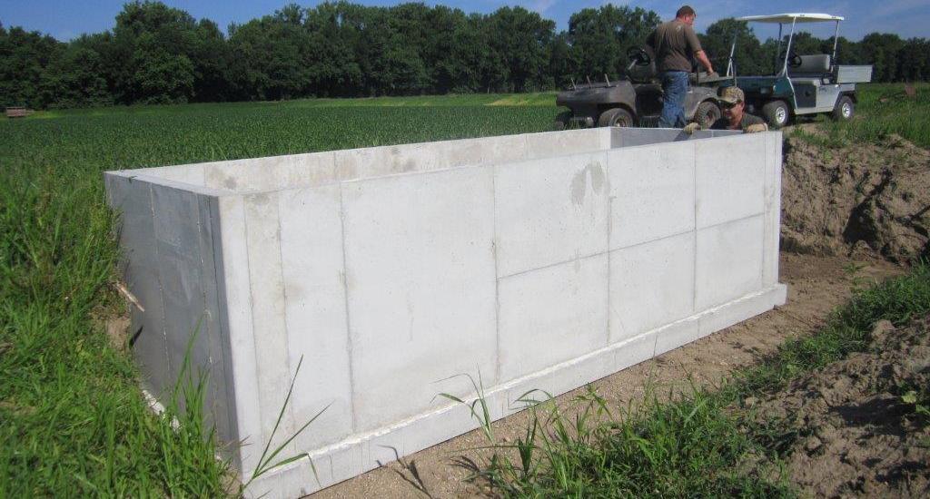 Precast Concrete Pits : Duck blind pits leman precast