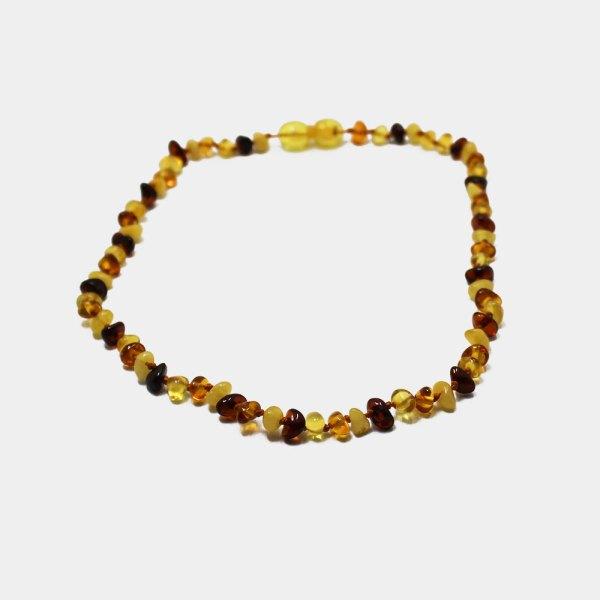 design di qualità 778bc 5e49b Collana di ambra bicolore bambini Collane con Pietre e Argento ...