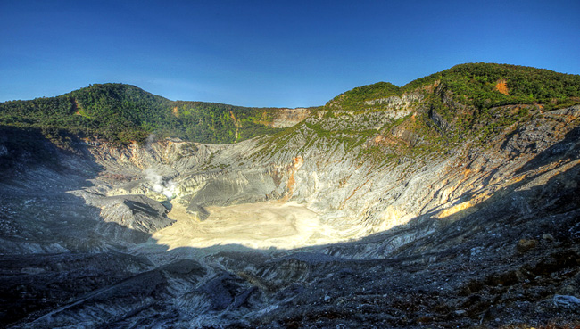 Tangkuban Perahu Mountain In West Bandung Regency Indonesia