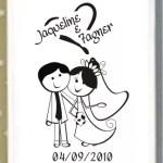 Espelho Personalizado Jaquelina e Fagner