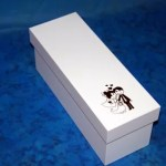 Caixa chandon nº 1 branca personalizada em preto