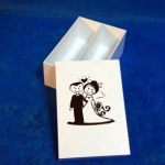 Caixa chandon nº 2 branca personalizada em preto