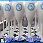 Taças de acrilico personalizadas A e L
