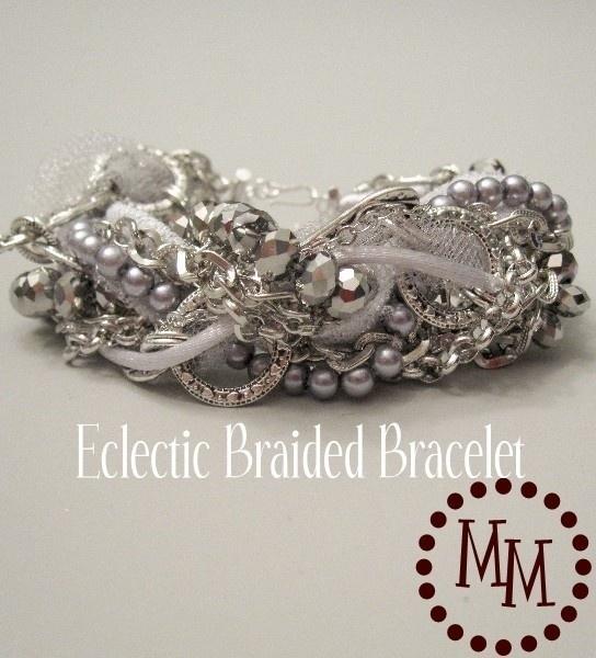Diy bracelet de perles de chaines et de rubans - Bracelet perle et ruban ...