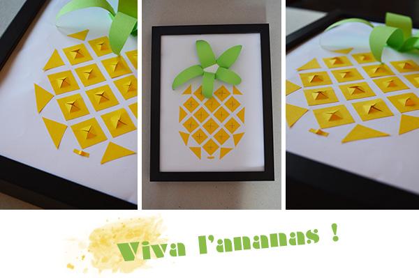 DIY Cadre ananas - Le Meilleur du DIY
