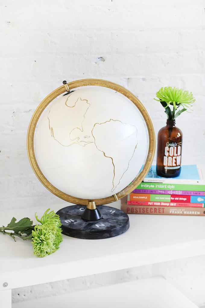 diy globe blanc pour d coration originale le meilleur du diy. Black Bedroom Furniture Sets. Home Design Ideas