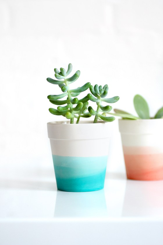 DIY pot dégradé