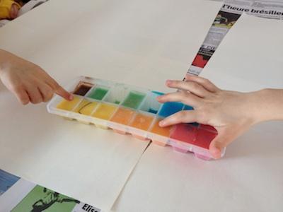 diy peindre avec des gla ons le meilleur du diy. Black Bedroom Furniture Sets. Home Design Ideas