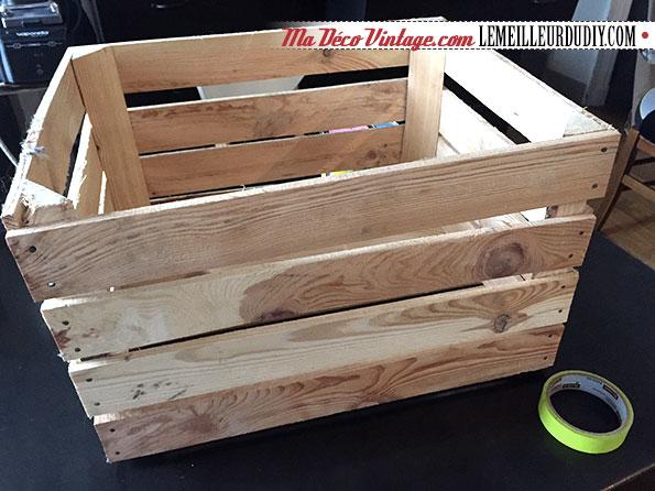 DIY caisse en bois vintage étape 1