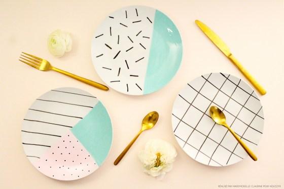 Décorer des assiettes avec de la peinture