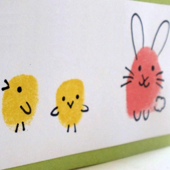 DIY dessiner avec les doigts avec les enfants
