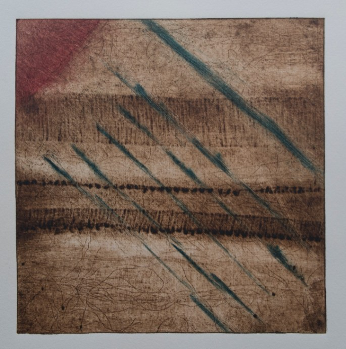 Collagraph, paper, ink, 250 $