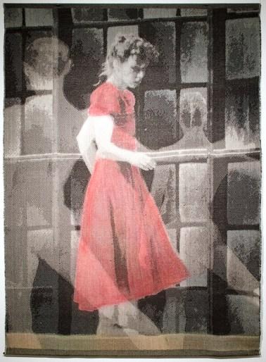 Tissage Jacquard, coton et lin, teinture, Collection privée