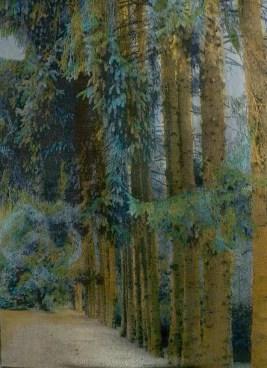 Tissage Jacquard, lin, coton, teinture, collection privée