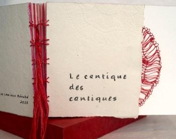 Livre d'artiste réalisé pour l'exposition Noces de Ruby de l'Association des artistes de LaSalle.