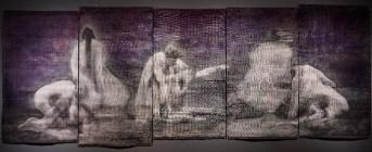 La Pieta, 2016, 120x366 cm